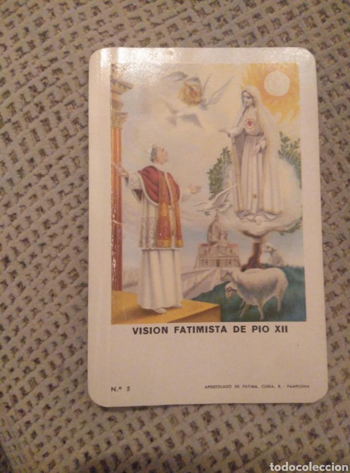 FOURNIER 1971 VISIÓN FATIMISTA DE PIO XII (Coleccionismo - Calendarios)