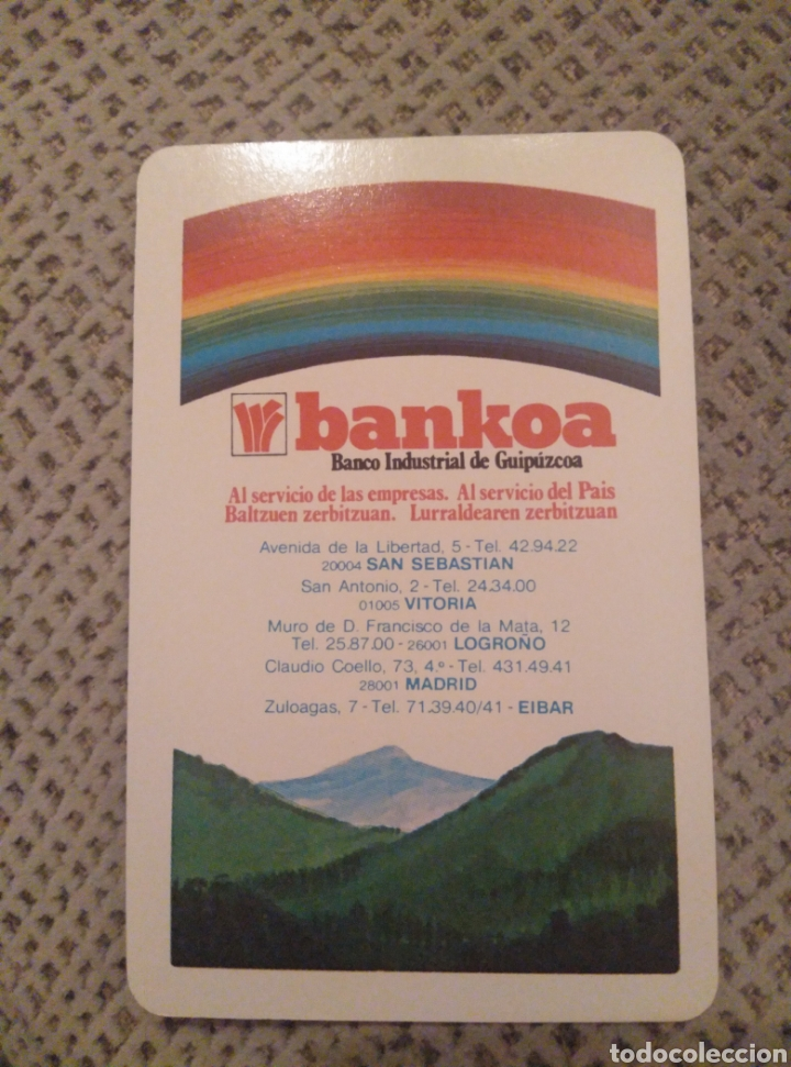 FOURNIER 1985 BANKOA (Coleccionismo - Calendarios)