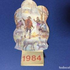 Coleccionismo Calendarios: CALENDARIO NAVIDAD 1984 DE LOS QUE LLEVABAN PURPURINA TAMAÑO: 16 X 8 CM APROX. Lote 189190280