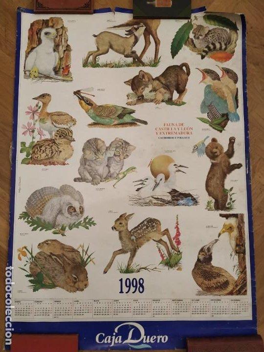 CALENDARIO FAUNA DE CASTILLA Y LEÓN Y EXTREMADURA - CAJA DUERO 1988 (Coleccionismo - Calendarios)