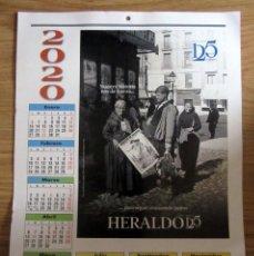Coleccionismo Calendarios: CALENDARIO TAMAÑO PARED HERALDO ARAGON 2020. Lote 189477836