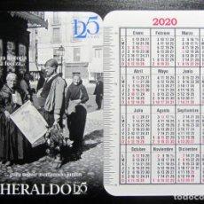 Coleccionismo Calendarios: CALENDARIO TAMAÑO BOLSILLO HERALDO ARAGON 2020. Lote 189707091