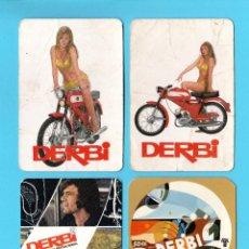 Coleccionismo Calendarios: 4 CALENDARIOS MOTOCICLETAS DERBI. 1969 (2), 1970, 1972.. Lote 189754333