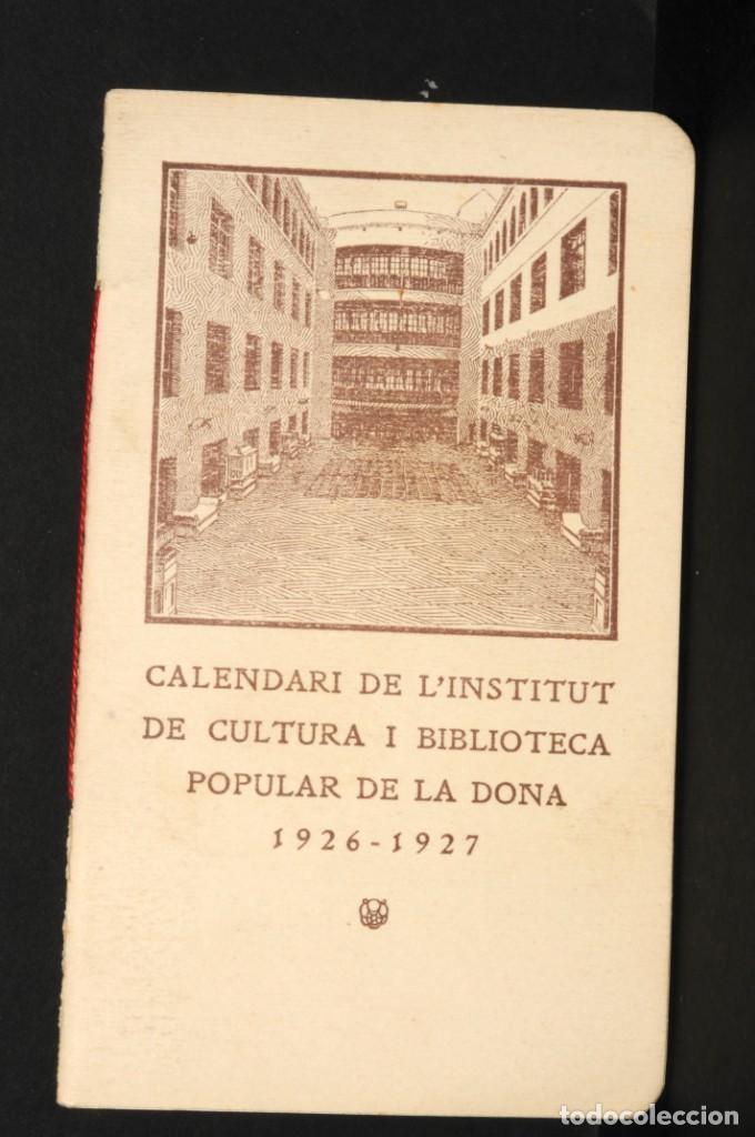 CALENDARI DEL INSTITUT DE CULTURA POPULAR DE LA DONA. ALMANAQUE 1926-1927 (Coleccionismo - Calendarios)