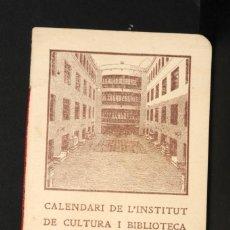 Coleccionismo Calendarios: CALENDARI DEL INSTITUT DE CULTURA POPULAR DE LA DONA. ALMANAQUE 1926-1927. Lote 190456505