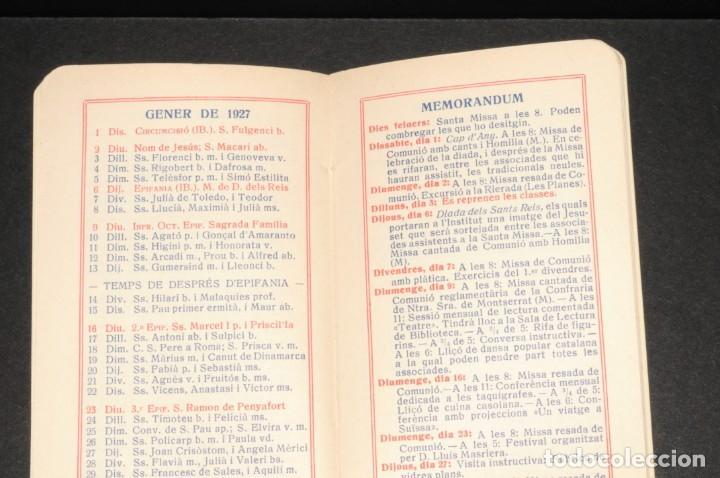 Coleccionismo Calendarios: CALENDARI DEL INSTITUT DE CULTURA POPULAR DE LA DONA. Almanaque 1926-1927 - Foto 3 - 190456505