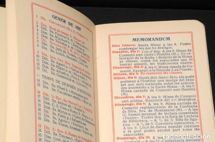 Coleccionismo Calendarios: CALENDARI DEL INSTITUT DE CULTURA POPULAR DE LA DONA. Almanaque 1926-1927 - Foto 4 - 190456505