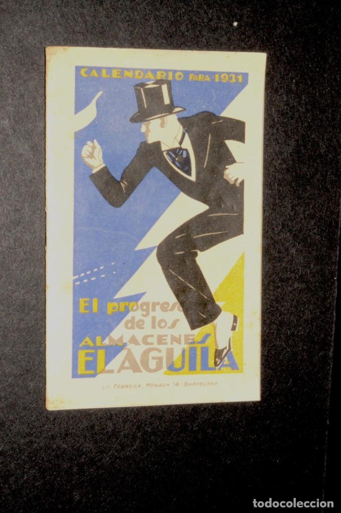 ALMACENES EL AGUILA. ALMANAQUE 1931 (Coleccionismo - Calendarios)