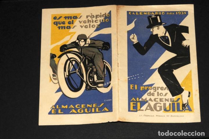 Coleccionismo Calendarios: Almacenes EL AGUILA. Almanaque 1931 - Foto 10 - 190456733