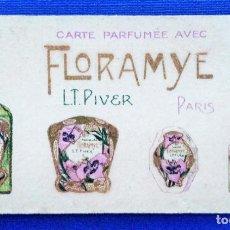 Coleccionismo Calendarios: CALENDARIO 1926. PERFUME FLORAMYE PARIS. CARTA CON PERFUMES FLORAMYE. W. Lote 190529943