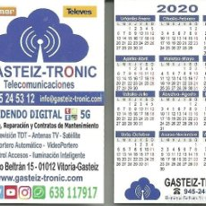 Coleccionismo Calendarios: CALENDARIO PUBLICITARIO. GASTEIZ-TRONIC. AÑO 2020. Lote 190629330