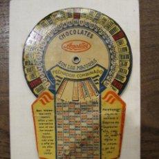 Coleccionismo Calendarios: CALENDARIO PERPETUO DE LOS AÑOS 30 - CHOCOLATES AMATLLER - BARCELONA. Lote 190760801