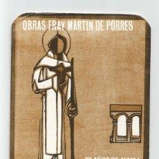 Coleccionismo Calendarios: CALENDARIO DE BOLSILLO 1986 FRAY MARTIN DE PORRES . Lote 191289391