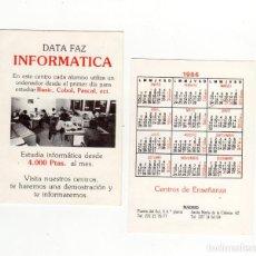 Coleccionismo Calendarios: CALENDARIO BOLSILLO - CENTROS DE ENSEÑANZA DATA FAZ INFORMÁTICA - MADRID - AÑO 1986. Lote 191415106