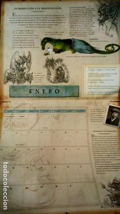 Coleccionismo Calendarios: dragones - calendario 2009 montena - Foto 2 - 191673017
