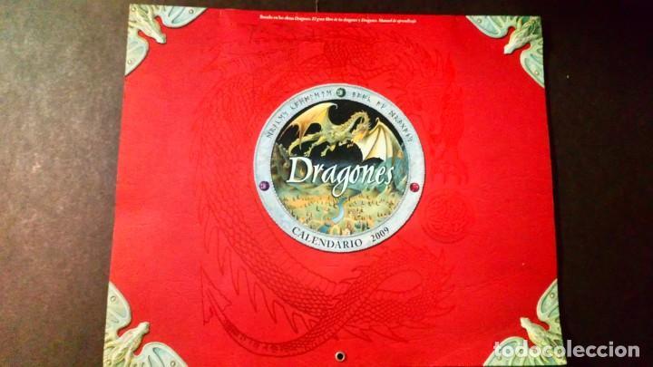 DRAGONES - CALENDARIO 2009 MONTENA (Coleccionismo - Calendarios)