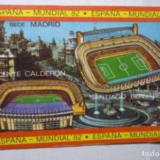 Collezionismo Calendari: CALENDARIO FUTBOL MUNDIAL 82 SEDE MADRID 1982. Lote 191698901