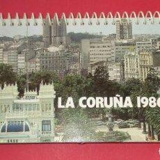 Coleccionismo Calendarios: CALENDARIO DE MESA. LA CORUÑA 1986.. Lote 191712125