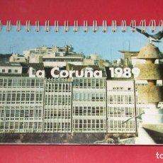 Coleccionismo Calendarios: CALENDARIO DE MESA. LA CORUÑA 1989.. Lote 191712682