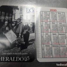Coleccionismo Calendarios: CALENDARIO PUBLICITARIO. HERALDO DE ARAGÓN. AÑO 2020. Lote 191735597