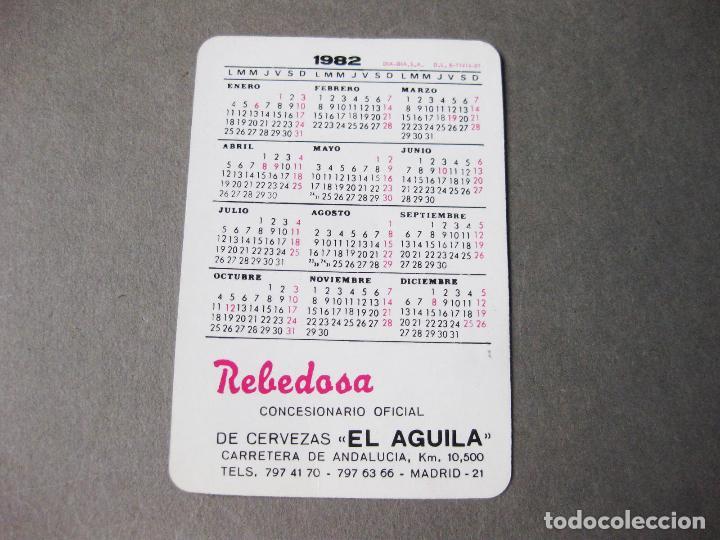 Coleccionismo Calendarios: CALENDARIO PUBLICITARIO DE CERVEZAS EL AGUILA - REBEDOSA 1982 - Foto 2 - 218193940