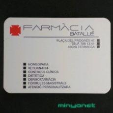 Coleccionismo Calendarios: CALENDARIO FARMÀCIA BATALLÉ TERRASSA 1997. Lote 191948016