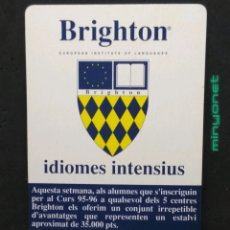 Coleccionismo Calendarios: CALENDARIO BRIGHTON 1995 1996. Lote 192542456