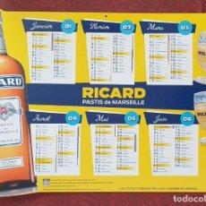 Coleccionismo Calendarios: CALENDARIO RICARD. 2020. ORIGINAL POR AMBAS CARAS. ENORME 55X38 CM. A COLOR. CARTÓN MUY DURO. NUEVO!. Lote 192558807
