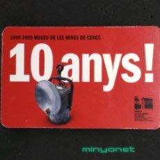 Coleccionismo Calendarios: CALENDARIO MUSEU DE LES MINES DE CERCS 2009. Lote 192605135