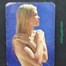 Coleccionismo Calendarios: CALENDARIO DE SERIE EU/2045 DE 1972 - CHICA LIGERA DE ROPA. DELKAR, LOGROÑO. Lote 193199127