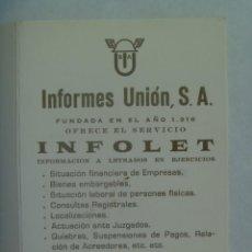 Coleccionismo Calendarios: CALENDARIO DE BOLSILLO DE 1980: INFOLET, INFORMES UNION S.A., SEVILLA. CON GUARDIAS EN JUZGADOS. Lote 262343395