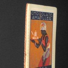 Coleccionismo Calendarios: PEQUEÑO ALMANAQUE / CALENDARIO - AÑO 1916 - CONCURSO DE CARTELES - PUBLICIDAD CHOCOLATE AMATLLER. Lote 193989771
