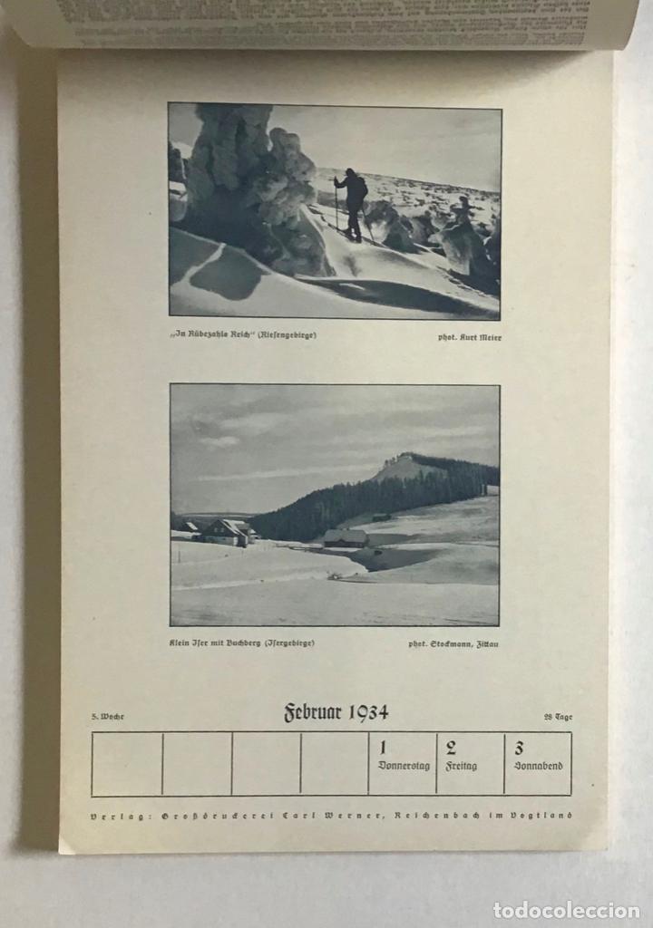 Coleccionismo Calendarios: DEUTSCHER SKI-KALENDER. SKI-HEIL 1934. [Calendario, 1934.] ESQUÍ, ALPINISMO. - Foto 2 - 194000063