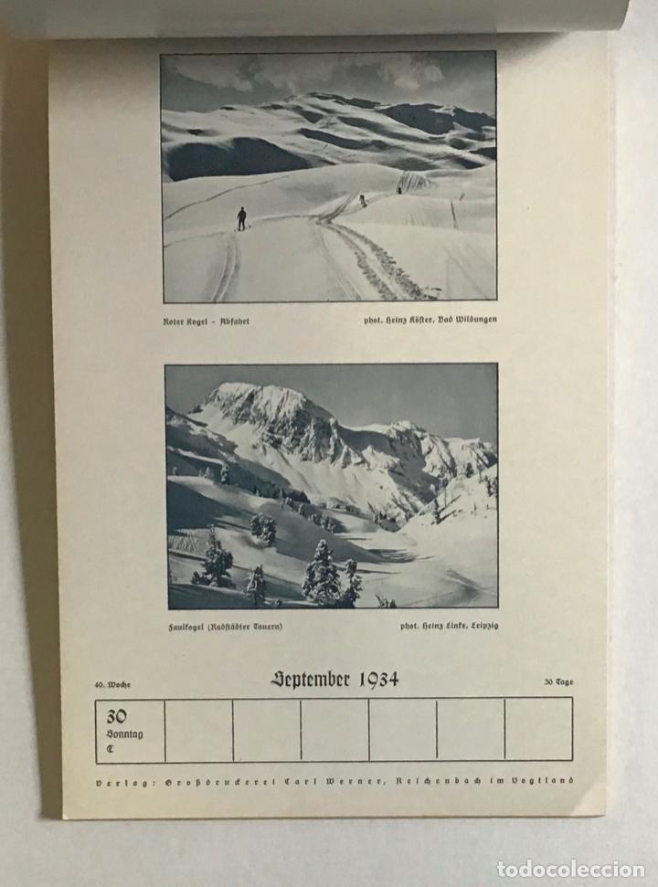 Coleccionismo Calendarios: DEUTSCHER SKI-KALENDER. SKI-HEIL 1934. [Calendario, 1934.] ESQUÍ, ALPINISMO. - Foto 4 - 194000063