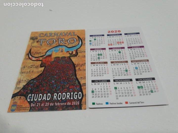 CALENDARIO PUBLICITARIO. CARNAVAL DEL TORO. CIUDAD RODRIGO. SALAMANCA. AÑO 2020 (Coleccionismo - Calendarios)