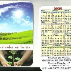 Coleccionismo Calendarios: CALENDARIO PUBLICITARIO. SIERVAS DE MARÍA. MINISTRAS DE LOS ENFERMOS. AÑO 2020. Lote 194240893