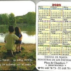 Coleccionismo Calendarios: CALENDARIO PUBLICITARIO. SIERVAS DE MARÍA. MINISTRAS DE LOS ENFERMOS. AÑO 2020. Lote 194240905