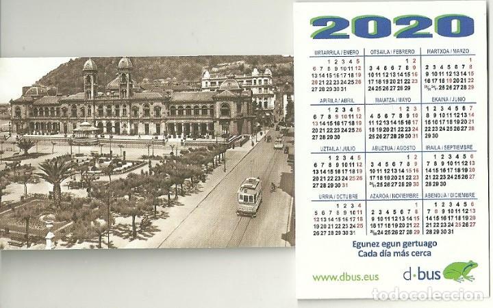 CALENDARIO PUBLICITARIO. DBUS. DONOSTIA BUS. COMPAÑIA DEL TRANVÍA DE SAN SEBASTIÁN. TREN. AÑO 2020 (Coleccionismo - Calendarios)