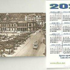 Coleccionismo Calendarios: CALENDARIO PUBLICITARIO. DBUS. DONOSTIA BUS. COMPAÑIA DEL TRANVÍA DE SAN SEBASTIÁN. TREN. AÑO 2020. Lote 194240945