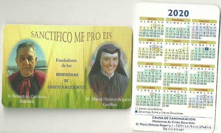 CALENDARIO PUBLICITARIO. MISIONERAS DE CRISTO SACERDOTE. AÑO 2020 (Coleccionismo - Calendarios)