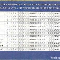 Coleccionismo Calendarios: CALENDARIO PUBLICITARIO - 2004 - CENTRE TOCOGINECOLÒGIC - CALENDARIO MENSTRUAL. Lote 194261940