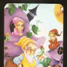 Coleccionismo Calendarios: CALENDARIO DE BOLSILLO SERIE EDIJAR DEL AÑO 1989 DIBUJOS ANIMADOS - GNOMOS - VER FOTO REVERSO. Lote 194262068
