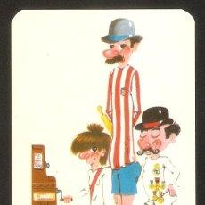 Coleccionismo Calendarios: CALENDARIO DE BOLSILLO DE SERIE AÑO 1974 FÚTBOL - AT. DE MADRID- REAL MADRID - VER FOTO REVERSO. Lote 194263187