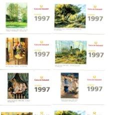 Coleccionismo Calendarios: SERIE COMPLETA 12 CALENDARIOS CAIXA DE SABADELL, PINTURA AÑO 1997. Lote 194311256