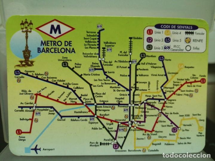CALENDARIO DE BOLSILLO METRO BARCELONA 1997 (Coleccionismo - Calendarios)