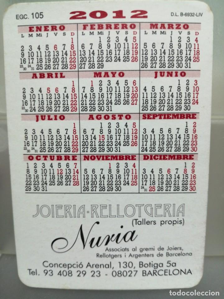 Coleccionismo Calendarios: CALENDARIO DE BOLSILLO RODALES BARCELONA 2012 CON PUBLICIDAD JOYERÍA, NURIA - Foto 2 - 194358065