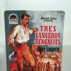 Coleccionismo Calendarios: CALENDARIO DE BOLSILLO CINE TRES LANCEROS BENGALTES 2004 . Lote 194358147