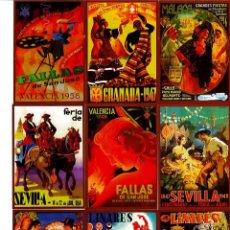 Coleccionismo Calendarios: 25 CALENDARIOS DE BOLSILLO CARTELES DE FIESTAS POPULARES ANTIGUOS AÑO 2012. Lote 194393733
