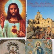 Coleccionismo Calendarios: CALENDARIOS DE BOLSILLO CON IMAGENES RELIGIOSAS Y PUBLICIDAD. Lote 194395188