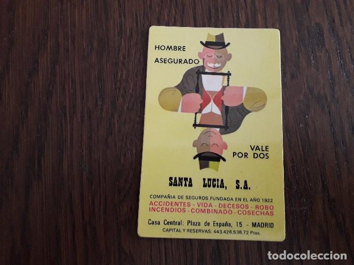 CALENDARIO DE PUBLICIDAD SEGUROS SANTA LUCIA AÑO 1973 (Coleccionismo - Calendarios)